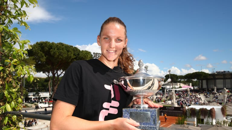 """Pliskova may not think she's a """"clay-court girl,"""" but she won in Rome"""