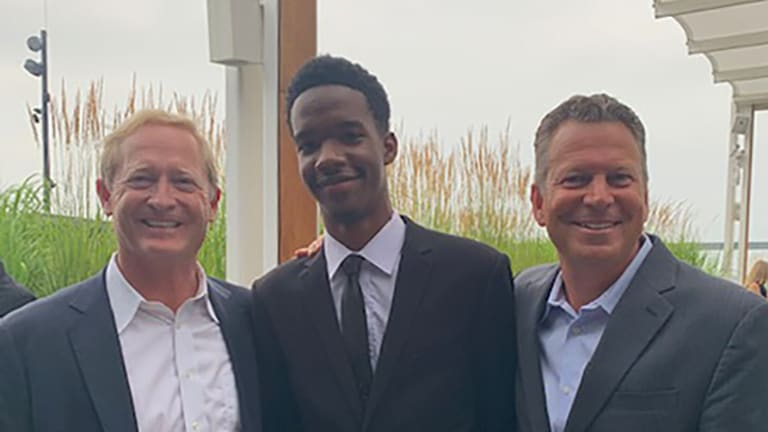 Bailey with the USTAF's Dan Faber (Executive Director) and Jeff Harrison (Director, Fund Development).