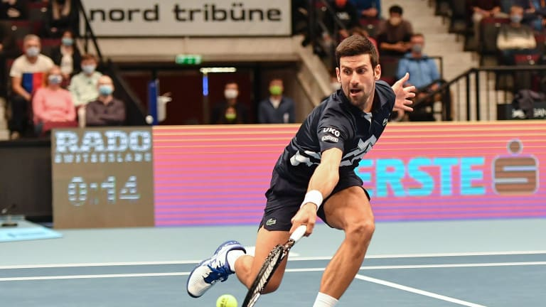 Djokovic passes Krajinovic test in Vienna; Thiem, Dimitrov win openers
