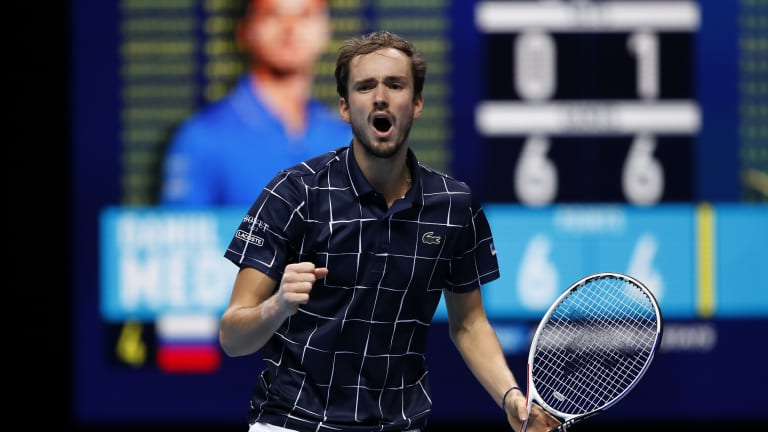 Mighty Medvedev rallies from 3-6, 4-5 down to top Nadal at ATP Finals