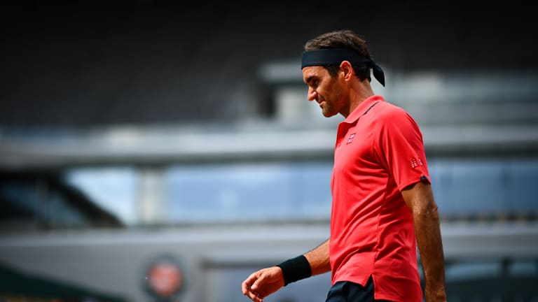 Federer joined Djokovic despite a second-set hiccup and a tense exchange with umpire Emmanuel Joseph (Getty Images).