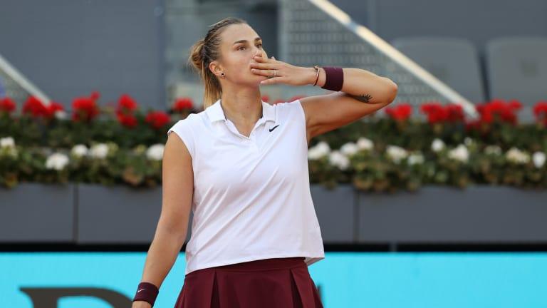 Aryna Sabalenka builds steam through clay-court surge in Madrid