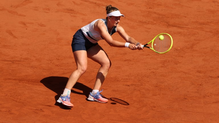 Krejcikova went four for six on break points.