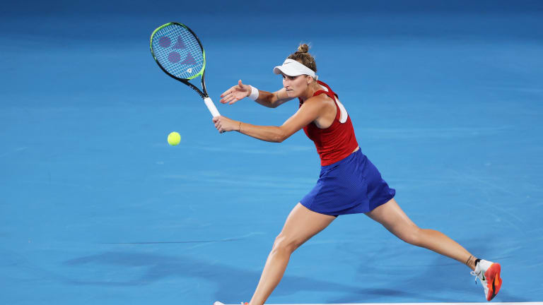 Vondrousova has only dropped one set all week at the Olympics.