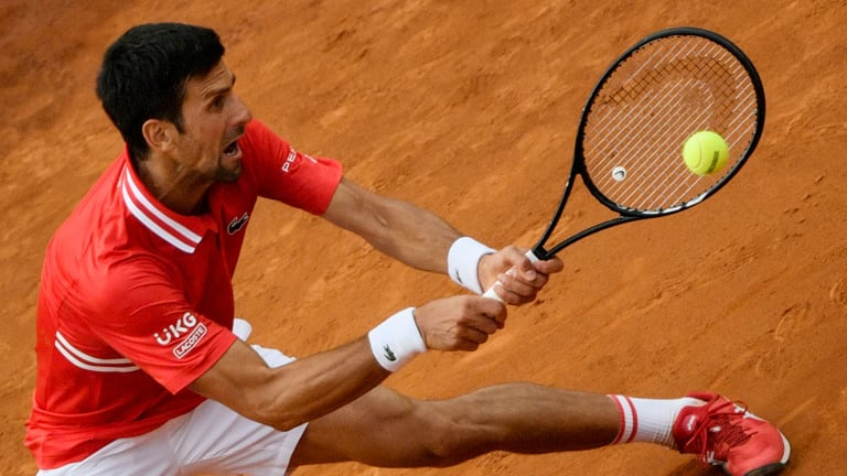 Djokovic is playing on home in Belgrade this week. (Getty Images)