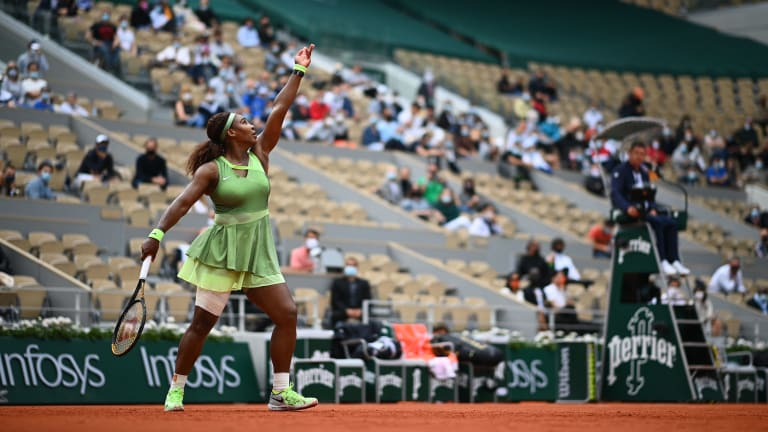 Williams rallied from a second-set deficit to defeat Danielle Collins, 6-4, 6-4 (Getty Images).