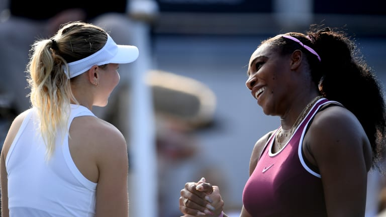 Serena overpowers Anisimova to set up Auckland final with Pegula