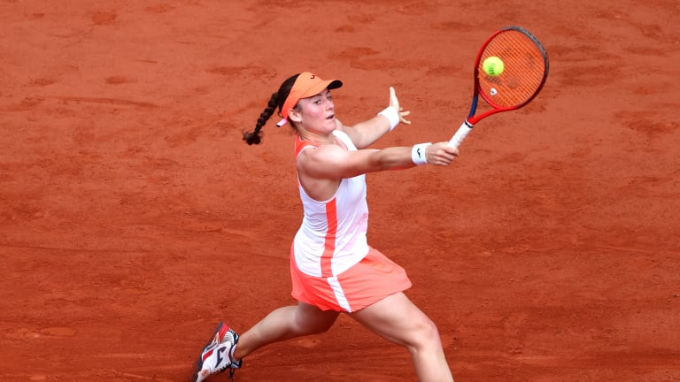 Before this event, Zidansek was 3-5 in Grand Slam main draws, and winless at Roland Garros.
