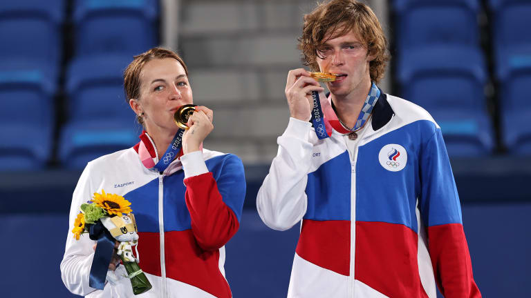This year the mixed brought two popular and personable Russians, Andrey Rublev and Anastasia Pavlyuchenkova, together for the first time.