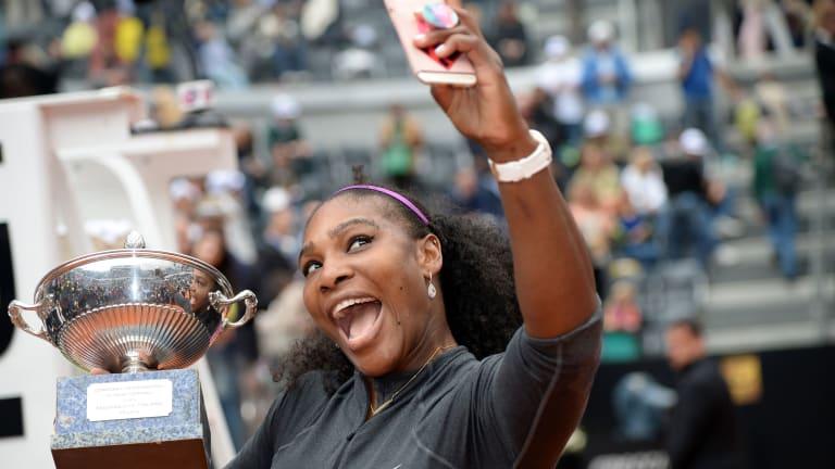 Serena Williams exudes quiet confidence ahead of Rome return