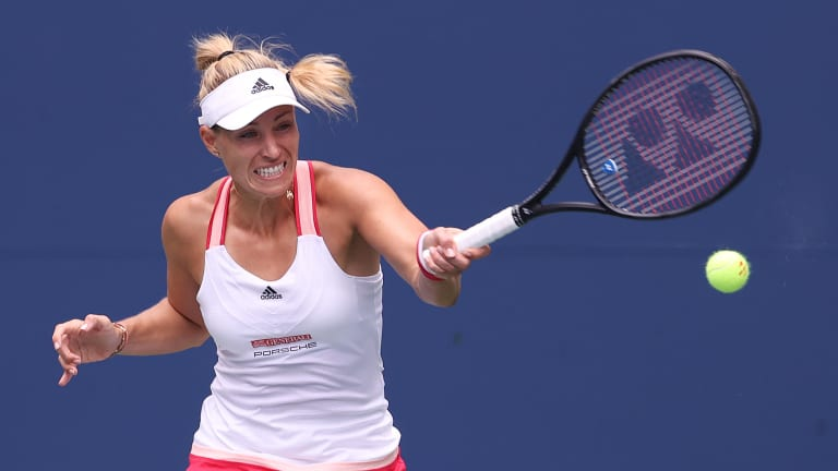 Former US Open champ Kerber overcomes bubble skepticism with sharp win