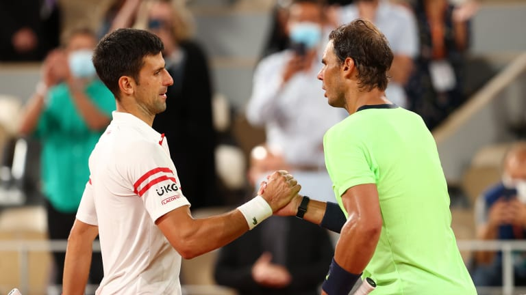 Nadal led Djokovic 19-7 on clay and 7-1 at Roland Garros until last Friday