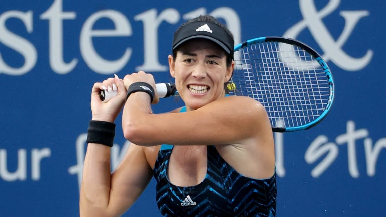 In the third set, Muguruza won the first 10 points and broke Jabeur's serve three times.