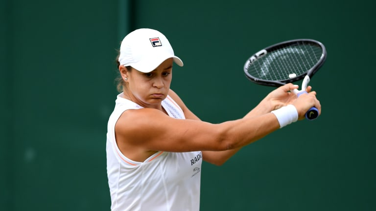 Barty's slice could prove to be the best weapon in the women's draw.