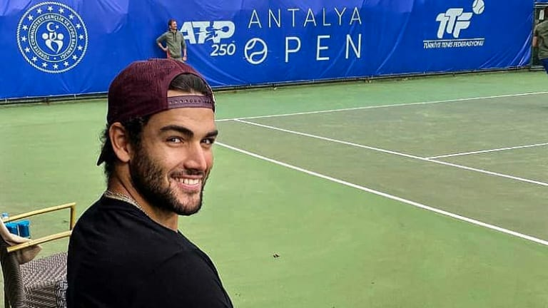 Healthy Berrettini at home in Antalya—site of his first ranking points