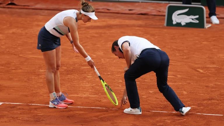 Krejcikova may have had to win the match twice.