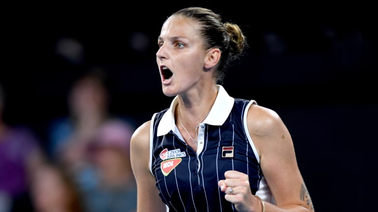 Down match point, Pliskova rises to the occasion to defeat Osaka