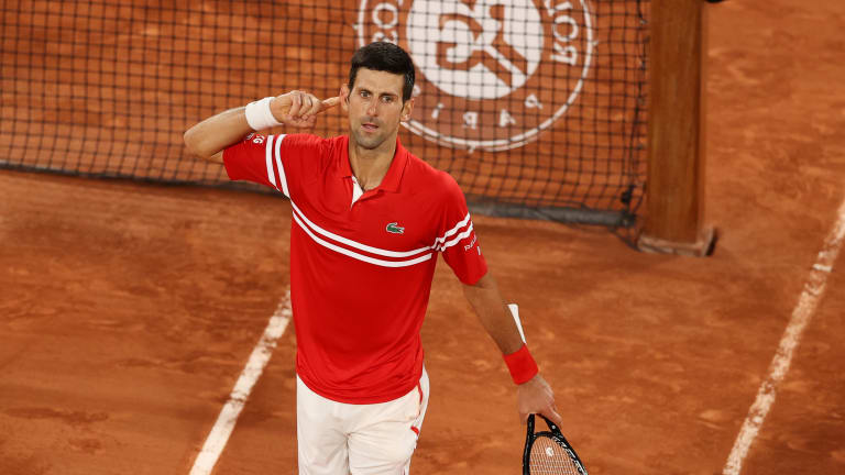 """""""Definitely the best match that I was part of ever in Roland Garros for me,"""" Djokovic said."""