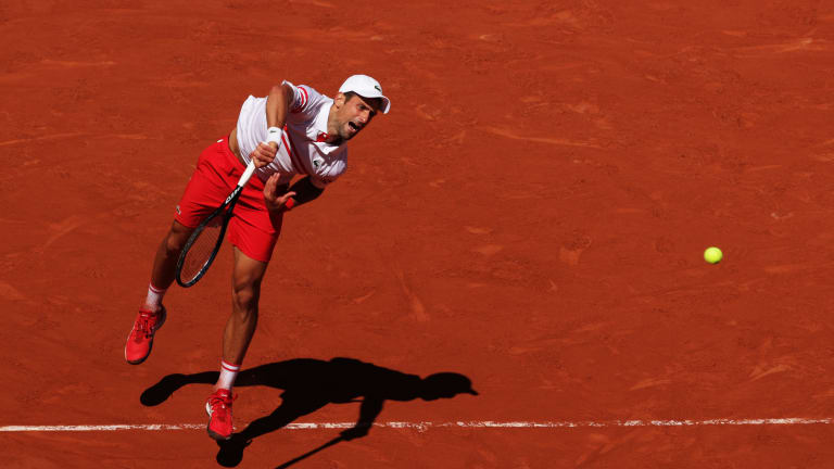 In the three sets Djokovic won Sunday, the world No. 1 did not face a break point.