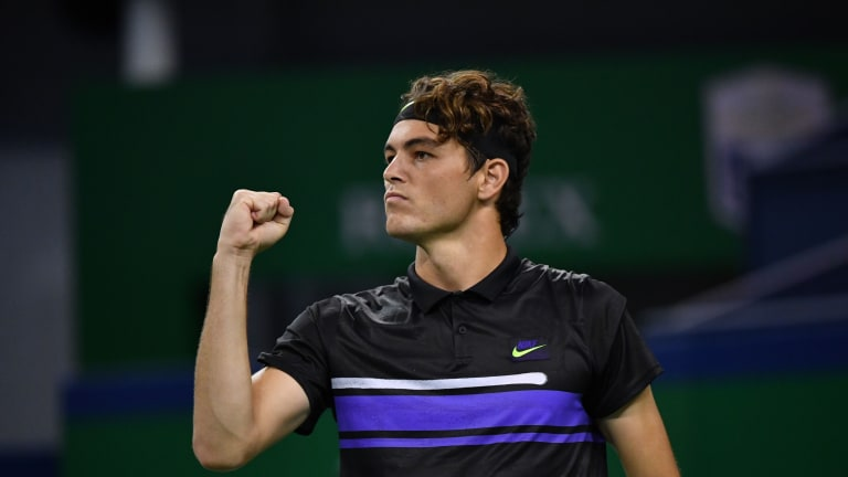 Fritz dismissed Joao Sousa in straight sets on Monday