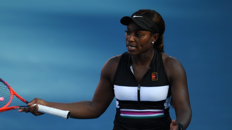 In Miami, defending champion Stephens has no answers for Maria