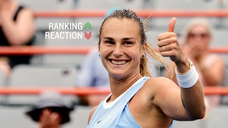Sabalenka is the second-highest-ranked Belarusian in WTA rankings history, after former No. 1 Victoria Azarenka.
