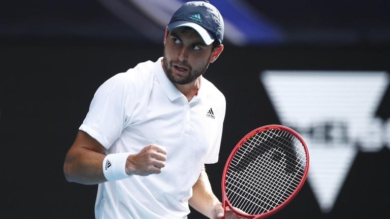 Karatsev conquers ailing Dimitrov to clinch historic AO semifinal spot