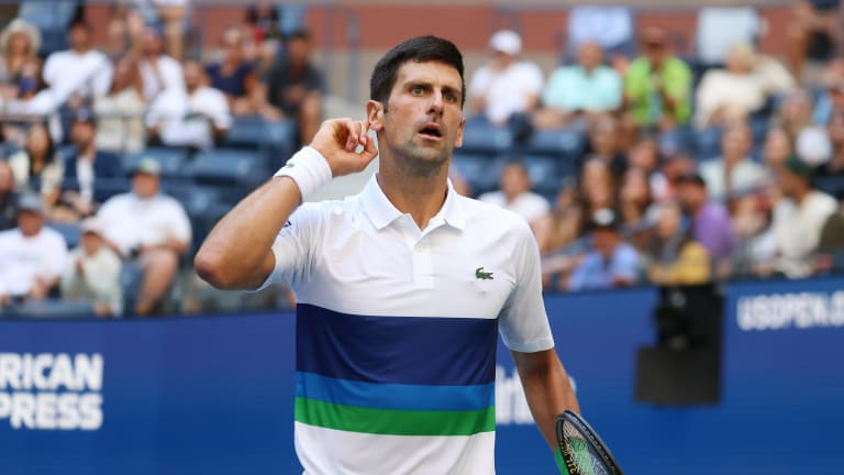 Djokovic asked for more crowd support in his third-round match against Nishikori—and, for the most part, he got it.