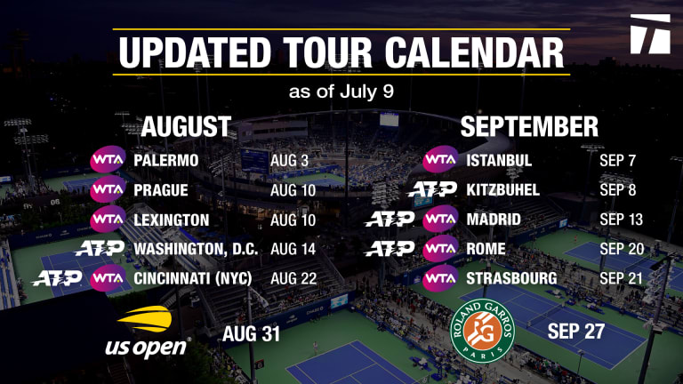 WTA mirrors ATP's altered ranking system, moves D.C. event to Kentucky