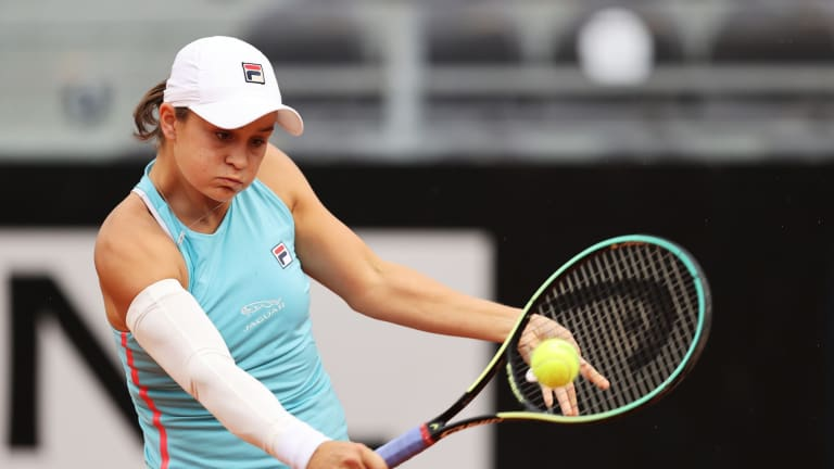 Ashleigh Barty struggled with injuries in Rome, but has looked back to her best ahead of Roland Garros (Getty Images).