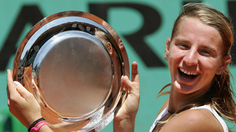 The affable Karatantcheva first made her star turn at Roland Garros in 2004, when she won the junior title (Getty Images).
