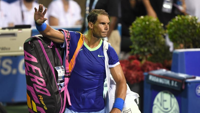 Nadal hasn't played since the Citi Open in August.