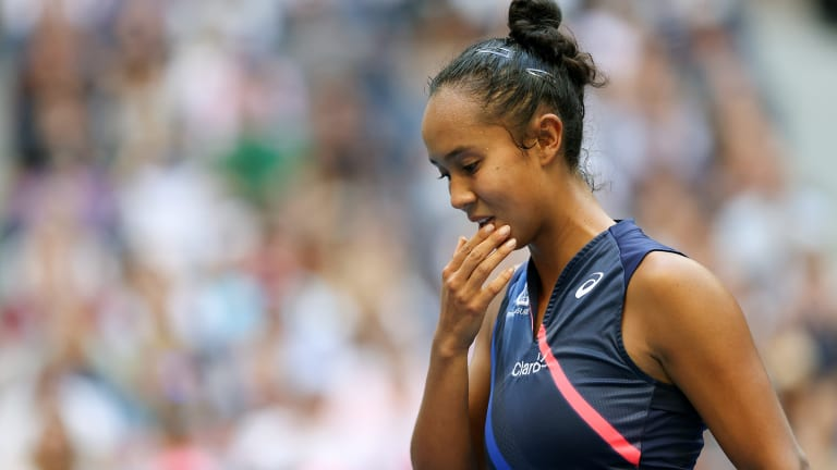 Leylah Fernandez beat the No. 2, 3 and 5 seeds, but this qualifier was too much to overcome.
