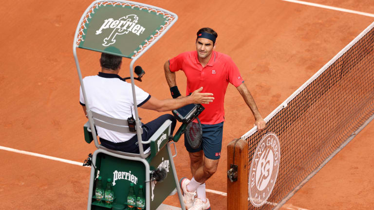 Roger Federer had a rare lengthy quibble with the chair umpire last week.