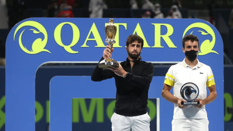 After beating Federer in QFs, Basilashvili goes all the way in Doha