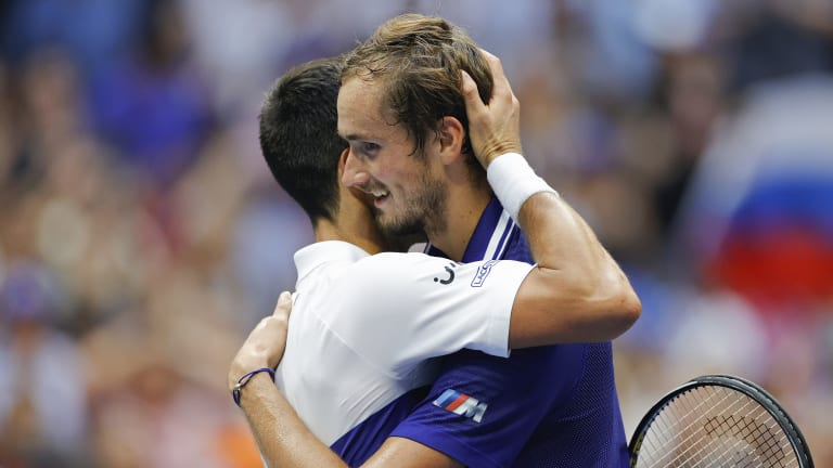 After winning in straight sets, Medvedev called Djokovic the greatest tennis player of all time.