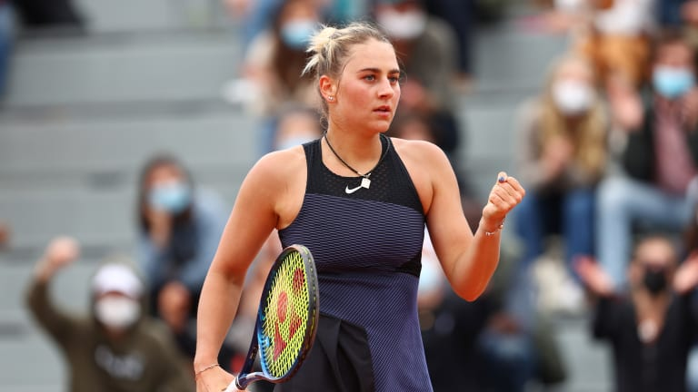 Kostyuk joined Badosa in the second week of Roland Garros with a straight-set win over Varvara Gracheva on Saturday (Getty Images).