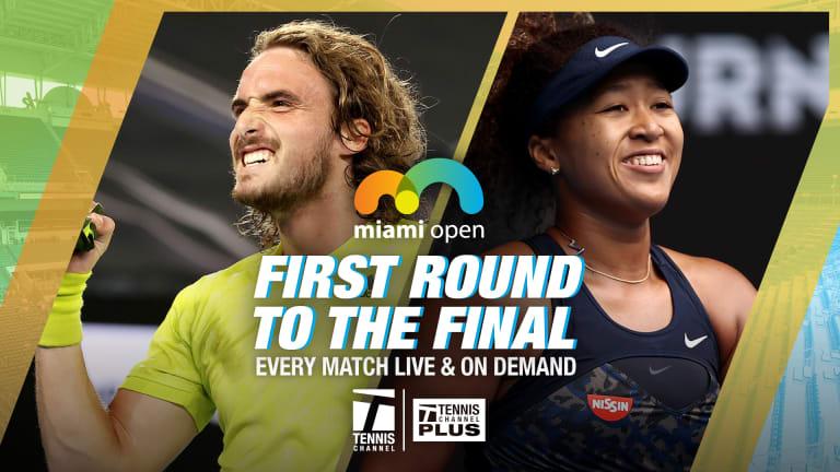 Three To See, Miami: Tsitsipas vs. Nishikori, Andreescu vs. Muguruza