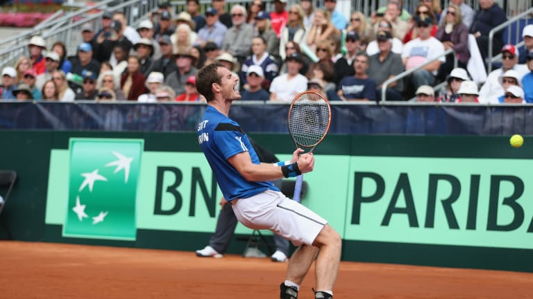Murray defeated Sam Querrey to clinch Great Britain's win over the U.S. in their 2014 Davis Cup tie.