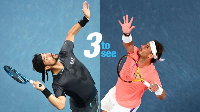 Three to See, Day 8: Tsitsipas-Berrettini, Nadal-Fognini, Barty-Rogers