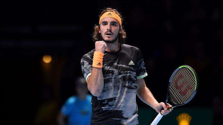 Sixth time's a charm: Tsitsipas finally tops Medvedev, at ATP Finals