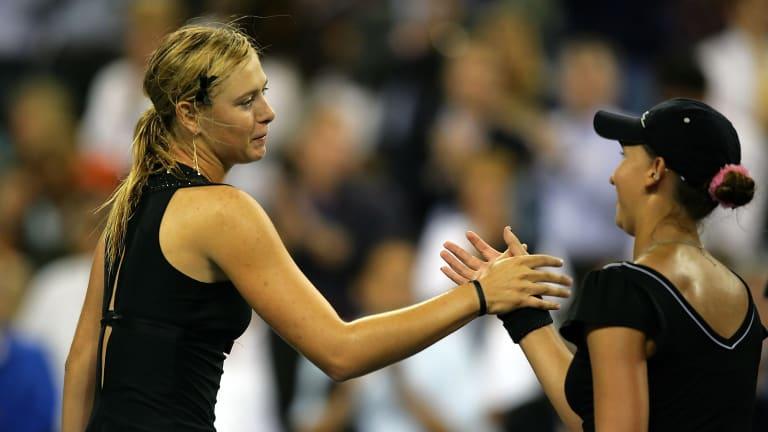 Golovin shares  flexible throwback  with Sharapova