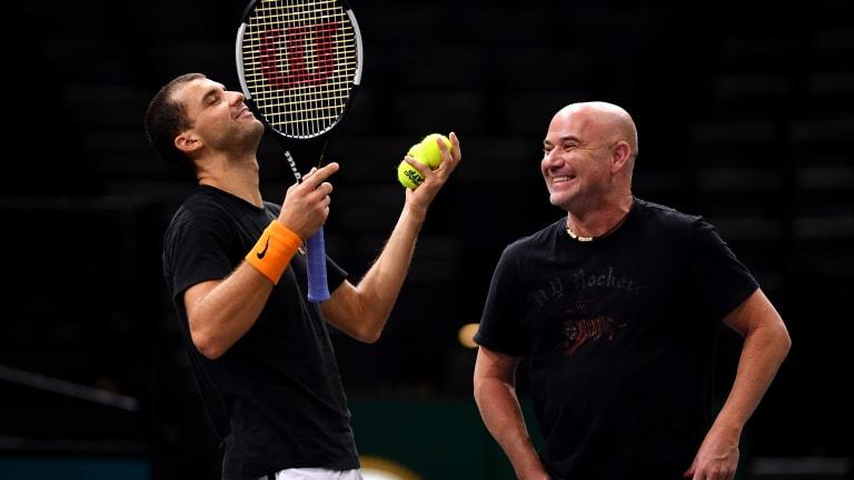 Former world No. 1 Agassi to accompany Dimitrov at Australian Open