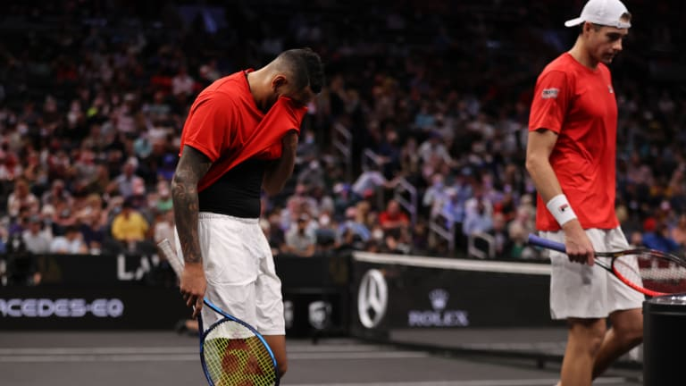 """""""It's been a good run for me,"""" said Team World's Kyrgios. I know there is some young, talented guys that are just better. You know, they are more versatile, more athletic. I have had a good run."""""""