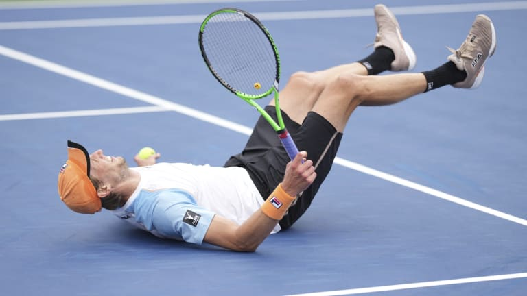 At 37 years old, Seppi staved off five match points against an in-form Fucsovics.