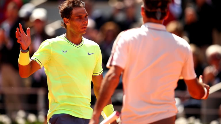 Of the 10 majors Nadal has missed in his career, Federer has won three and Djokovic one (Getty Images).