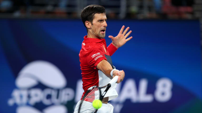 In must-win ATP Cup match, Djokovic extends dominant run against Nadal