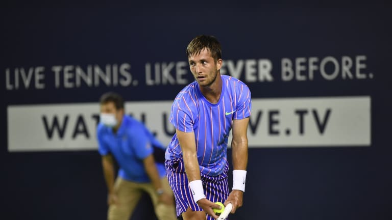 Opening day of UTS2 sees Dimitrov fall; Moutet, Lopez pick up wins
