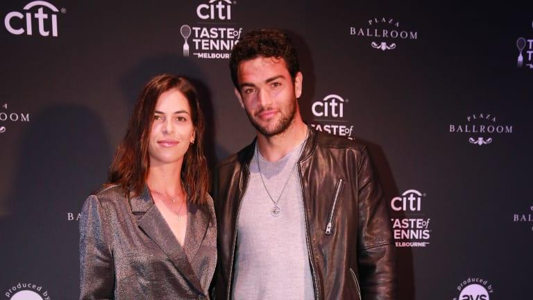 Tomljanovic and Berrettini at the 2020 Citi Taste of Tennis event in Melbourne, Australia.