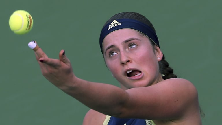 Jelena Ostapenko overcomes fellow prodigy Bencic in Indian Wells
